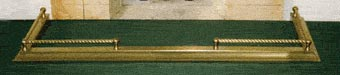 Solid Brass low fender - bobbin fender polished and lacquered